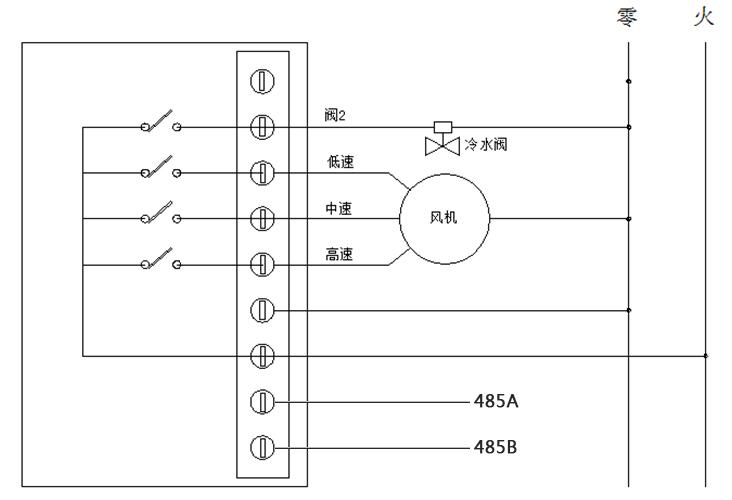 485联网型房间温控器接线图