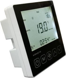 中央空调温控器左视