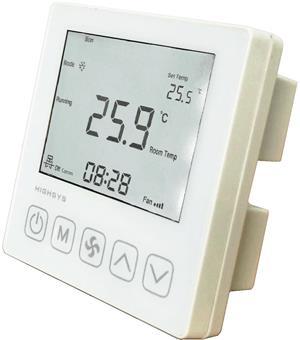 海思中央空调温控器(白色面板)