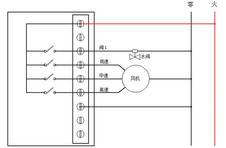 房间温控器接线图1