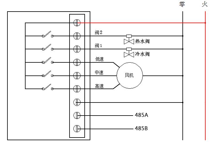 485房间温控器接线图