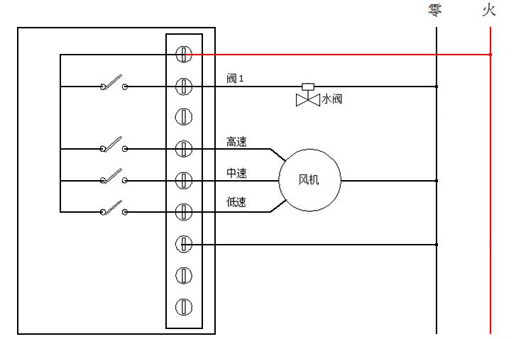 lora温控器 无线温控面板接线图
