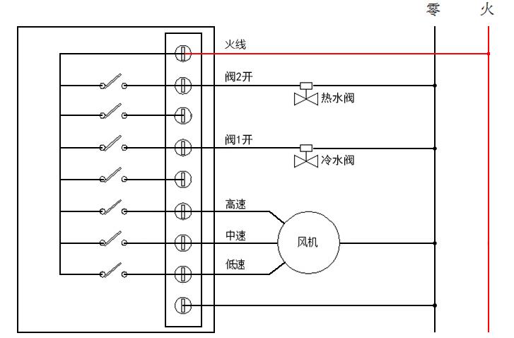 LoRa空调面板接线图(4管制)
